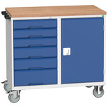 Bott Verso Mobile Maintenance Trolley 1050x550x980mm - 700mm Cupboard, 6 Drawers