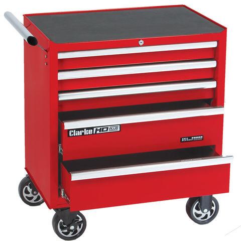 Image of Clarke Clarke CBB215B HD Plus 5 Drawer Tool Cabinet