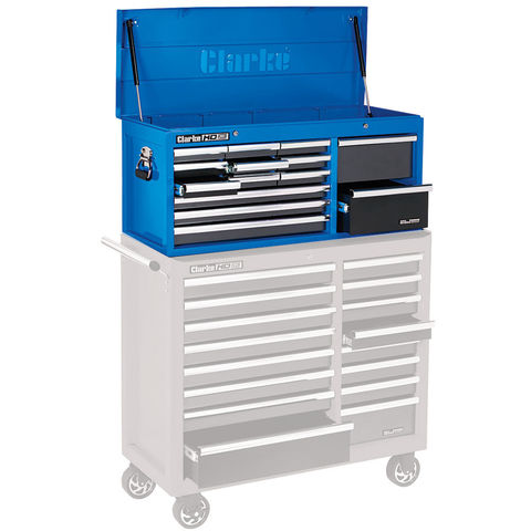 Clarke Clarke CBB224BLB Extra large HD Plus 14 Drawer Tool Chest