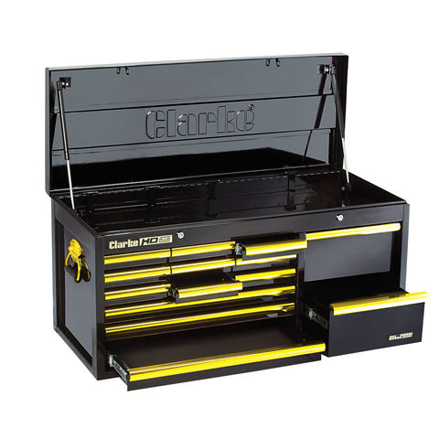Image of Clarke Clarke CBB224BGB Extra Large HD Plus 14 Drawer Tool Chest (Black & Gold)