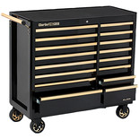 Clarke CBB226BGB HD Plus 16 Drawer Tool Cabinet (Black & Gold)
