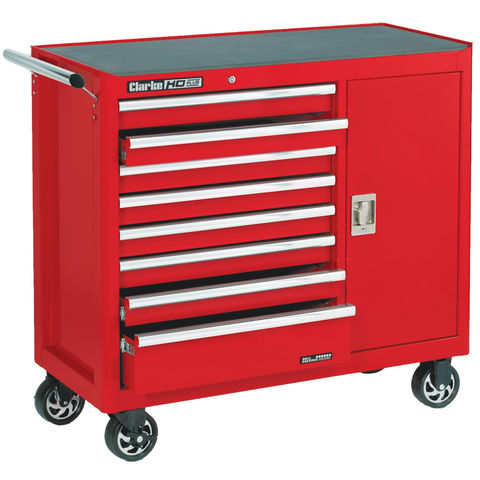 Image of Clarke Clarke CBB228B Extra Wide HD Plus 8 Drawer Tool Cabinet with Side Door