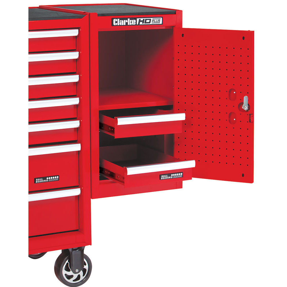 side end locker i red box tool in cabinet