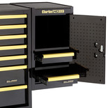 Clarke SL26BGB 2 Drawer Side Locker (Black & Gold)
