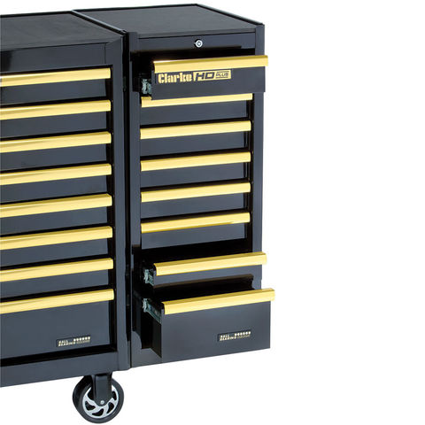 Image of Clarke Clarke SL41BGB 8 Drawer Side Locker (Black & Gold)