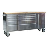 Sealey AP7210SS Mobile 10 Drawer Stainless Steel Cabinet with Cupboard