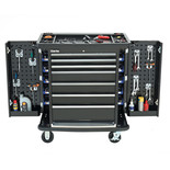 Clarke CBB35W HD Plus 7 Drawer Roller Cabinet with Side Lockers