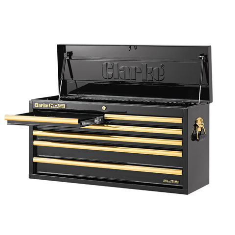 Image of Clarke Clarke CBB306BG Large Heavy Duty 6 Drawer Tool Chest (Black & Gold)