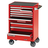 "Clarke CBB211DF 26"" 11 Drawer Mobile Cabinet with Front Cover - Red"