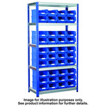 Barton Storage Eco-Rax TC Shelving Unit With 40 TC4 Red Containers