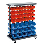Clarke CSR94 Mobile Double Sided Storage Bin Rack