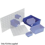 Barton TC6 Storage Bins (Blue) x 5