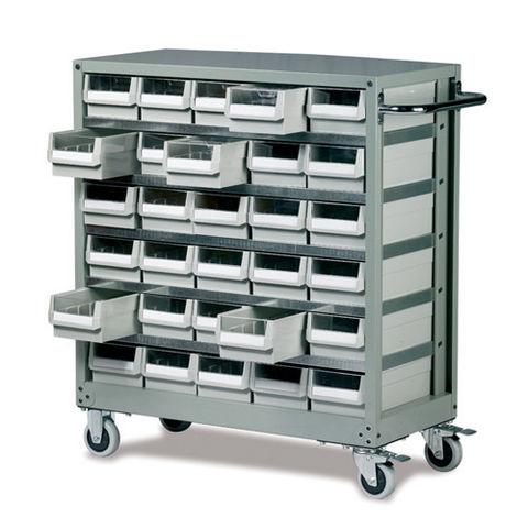 Image of Barton Storage Barton Topdrawer Trolley - 30 Drawers