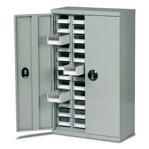 Image of Barton Storage Barton Topdrawer Cabinet - 48 Drawers with Doors