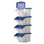 Barton Topstore Multi-Functional Containers with Blue Lids