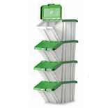 Barton Topstore Multi-Functional Containers with Green Lids