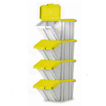 Barton Topstore Multi-Functional Containers with Yellow Lids