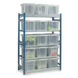 Barton Toprax Standard Initial Shelving Bay with 15 x 24Litre Containers