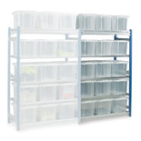 Barton Toprax Standard Extension Shelving Bay with 15 x 24Litre Containers