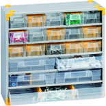 Barton Multi Drawer Metal Compact 33 Cabinet x 2
