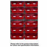 Topstore 48 x TC3 Bin Storage Kit Red 1828 x 641mm