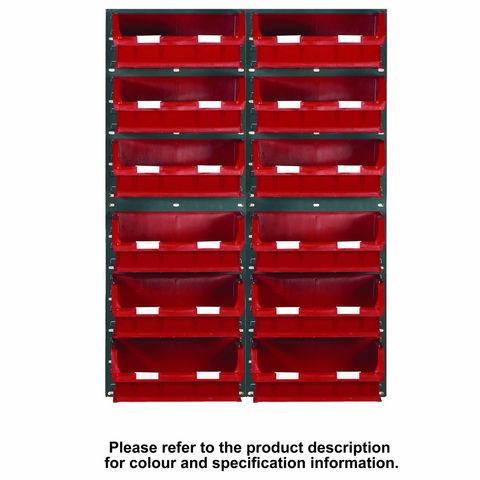Image of Machine Mart Xtra Barton Topstore 24 x TC5 Bin Storage Kit Blue 1828 x 641mm