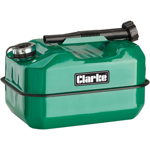 Image of Clarke Clarke LB10G 10 Litre Large Base Metal Fuel Can (Green)