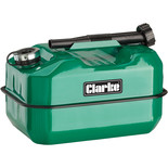 Clarke LB10G 10 Litre Large Base Metal Fuel Can (Green)
