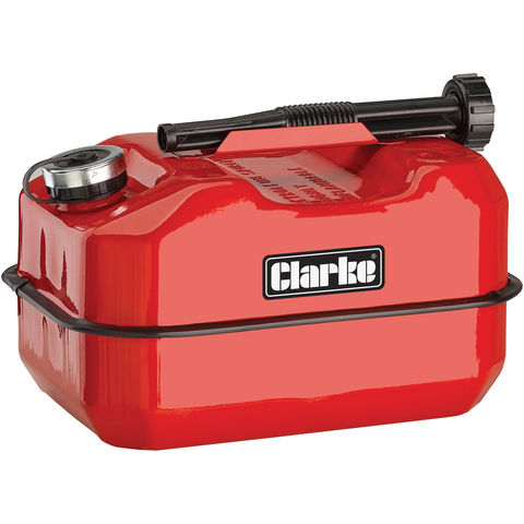 Image of Clarke Clarke LB10R 10 Litre Large Base Metal Fuel Can (Red)