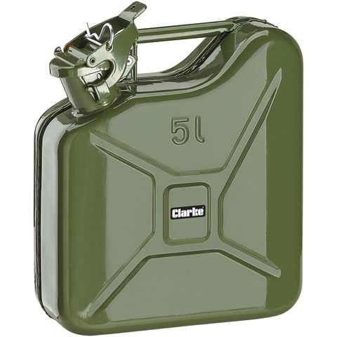 Image of Clarke Clarke JC5LG 5 Litre Fuel Can (Green)