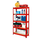 Clarke CSR5150RP 150kg Boltless Garage Shelving Red