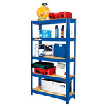 Clarke CSR5150BP 150kg Boltless Garage Shelving Blue