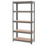 Clarke CSR5150B 150kg Boltless Garage Shelving Dark Grey