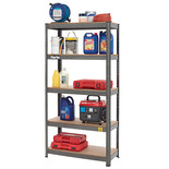 Clarke CSR5350B 350kg Boltless Garage Shelving Dark Grey