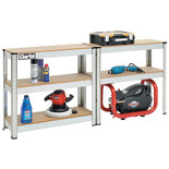 Clarke 5 Shelf Galvanised Rolled Edge Shelving Unit 350kg - CSR5350G