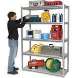 "Clarke CS5265S 1.2m (48"") Wide Span Boltless Shelving (Silver)"