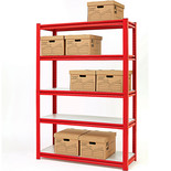 "Clarke CS5265RP 1.2m (48"") Wide Span Boltless Shelving (Red)"