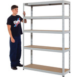 Clarke CSL5265/40LG Heavy Duty Boltless Shelving (Grey)