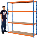 Clarke CSR4550/50BO Heavy Duty Boltless Shelving (Blue & Orange)