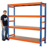 Clarke CS4600BO Heavy Duty Boltless Shelving (Blue & Orange)