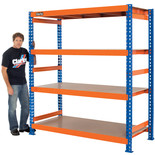 Clarke CS41000BO Heavy Duty Boltless Shelving (Blue & Orange)