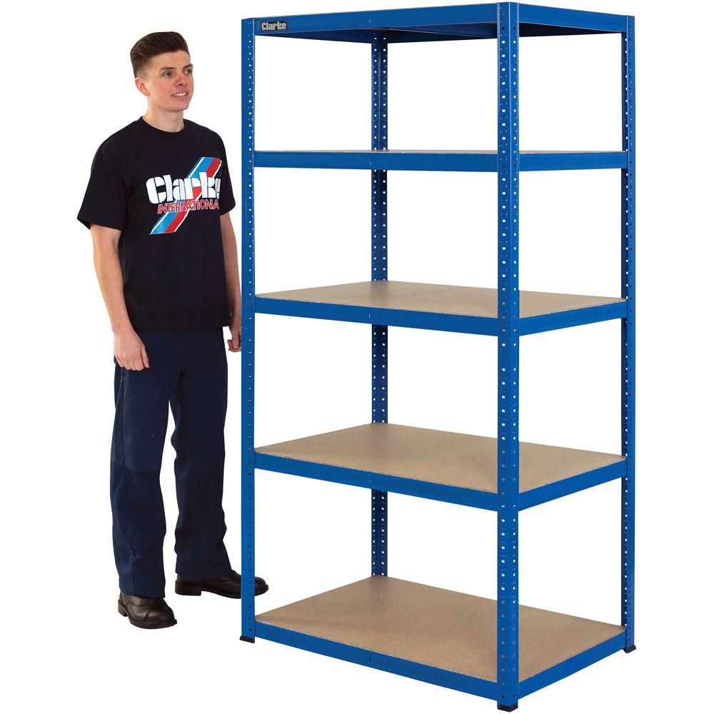 Clarke CSM517560BL 175kg Boltless shelving Blue 6600752