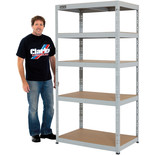 Clarke CSM5265/60LG 265kg Boltless shelving (Light Grey)