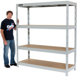 Clarke CSM4350/60LG 350kg Boltless Shelving (Light Grey)