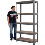 Clarke CSM5350B 350kg Boltless Shelving (Dark Grey)