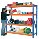 Clarke CS4700BO Industrial Shelving with 4 Laminate Board Shelves
