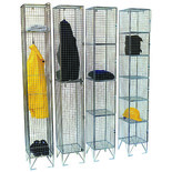 Mesh Locker 5 Doors 1980x305x305mm