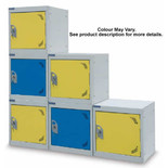 Barton Storage Silver/Yellow 380 Cube Locker
