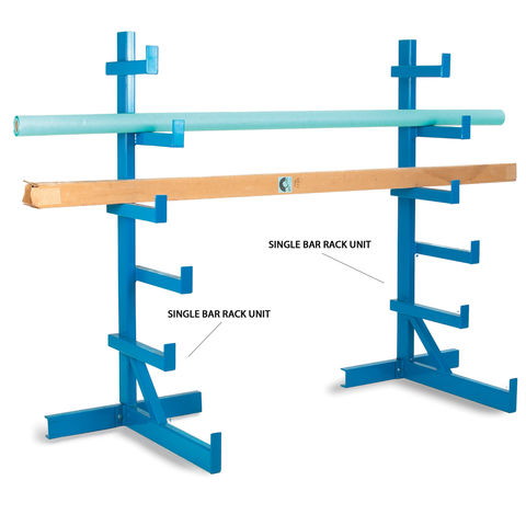 Image of Barton Storage Barton BARU/SS Single Bar Rack Unit Blue