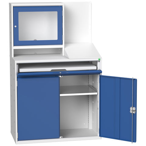 Image of Bott Bott Verso 1 Shelf Computer Cupboard 1050x550x1650mm